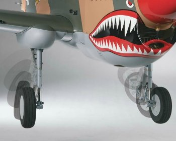 Top Flite P-40 pneumatic retracts