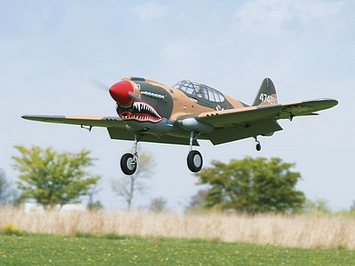 The Top Flite P-40 Warhawk Giant Scale ARF.