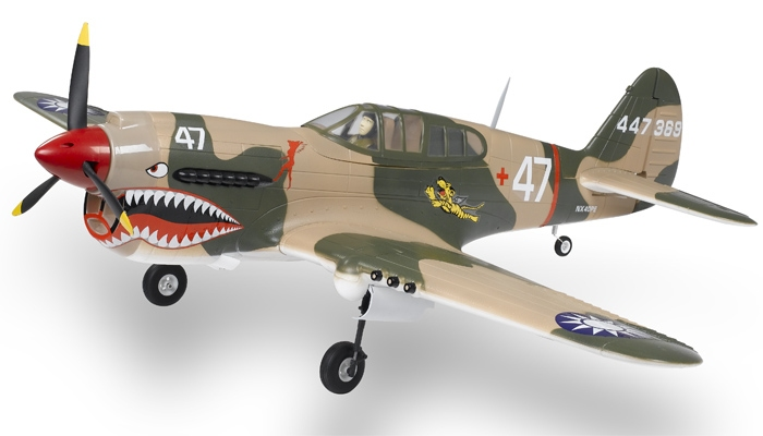 Airfield P-40 !400mm span RC airplane