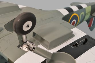 Phoenix Models Spitfire 50-61cc:View with landing gear in down position.