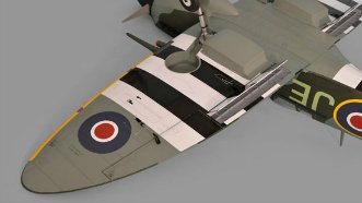 Phoenix Models Spitfire 50-61cc:Landing gear and flap down