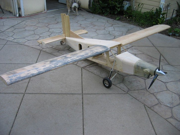 RC Pilatus Turbo Porter PC-6:Finished construction before painting.