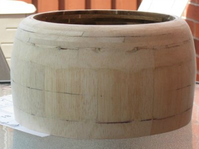 RC radial cowl made from balsa and ply