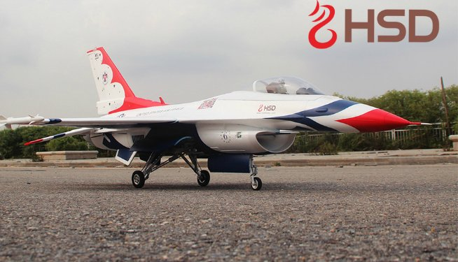 HSD F-16 T-Bird front low view