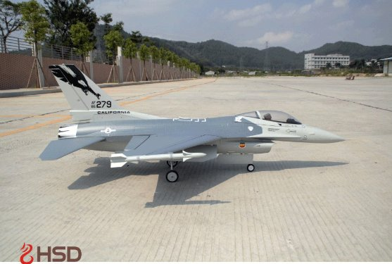 HSD F-16 Gray sideview