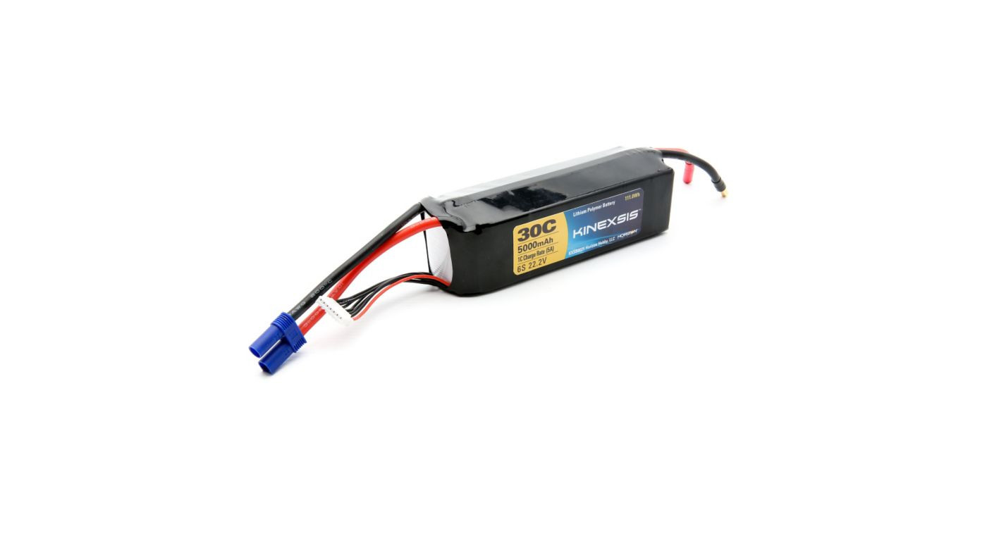 Kinexsis 22.2V 5000mAh 6S 30C LiPo from Red Rocket