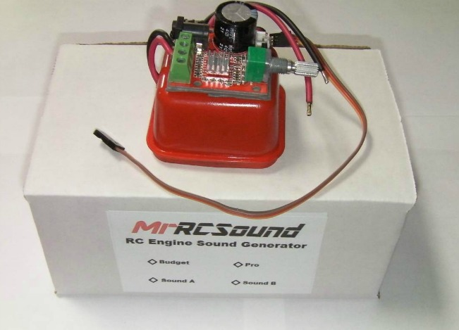 View of the RC airplane sound module