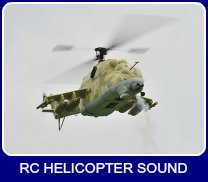 Scale RC Helicopter in hover