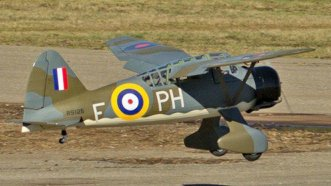 Seagull Models RC Lysander taking off